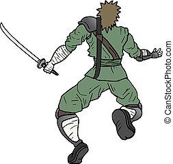 Run ninja - Creative design of run ninja