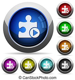 Run plugin round glossy buttons