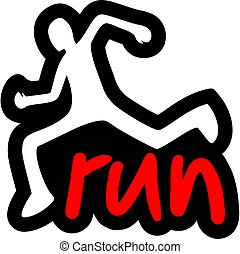 Run sticker - Creative design of run sticker