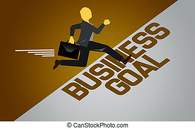 Run toward business goal for success