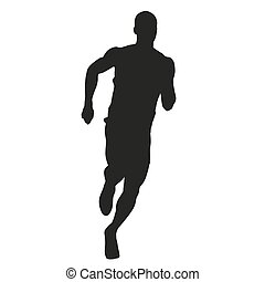 Run. Vector silhouette