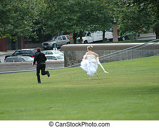 This runaway groom will not be saying I Do at the altar.