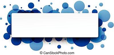 runda, blå, banner.