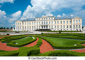 Rundale palace, former summer residence of Latvian nobility...