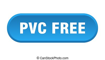 rundat, pvc, gratis, vit fond, button., underteckna