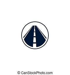 runder , abstrakt, logotype, abbildung, freigestellt, form, vektor, logo, hintergrund, weißes, element, kreis, straße, landstraße