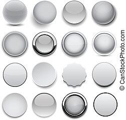 runder , icons., grau