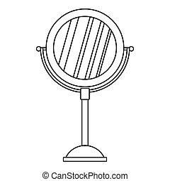 stil reflexion symbol spiegel web abbildung ledig vektor schwarz schminktisch spiegel. Black Bedroom Furniture Sets. Home Design Ideas
