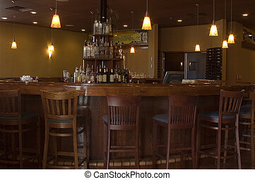 runder , teakholz, bar