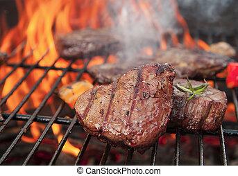rundvlees, biefstukken