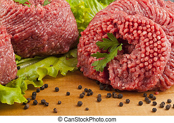 rundvlees, grond