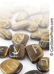 Rune Stones carved in Tiger's Eye