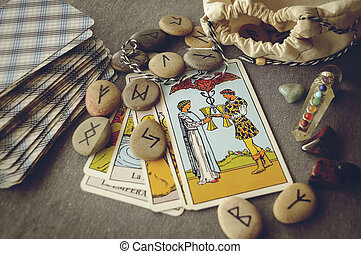 runes and tarot cards - divination and prediction on runes ...