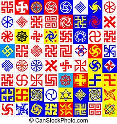 runes., occulte, symboles
