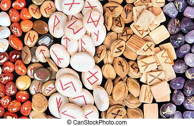 Runes of different materials