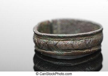 runic, medieval, anillo, cartas