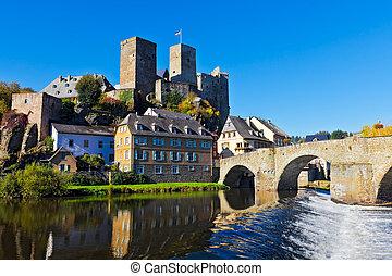 Runkel, Germany - The castle and bridge in Runkel, Hesse,...