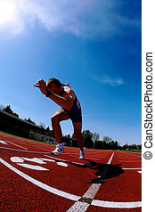 runner acceleration after start
