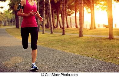 Runner athlete running