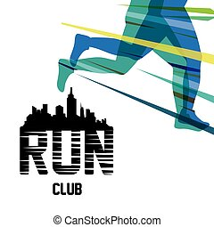runner athlete running design