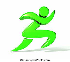 Runner figure logo