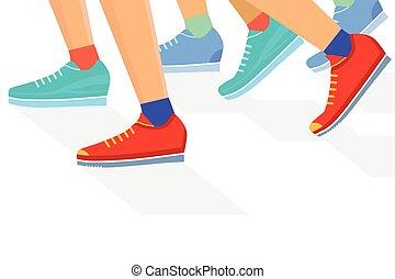 Runner group, illustration.eps