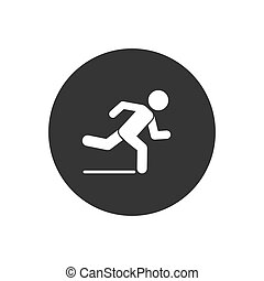 Runner icon. Logo element illustration. Runner symbol design. colored collection. Runner concept. Can be used in web and