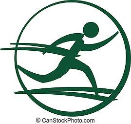 runner icon - sport symbol