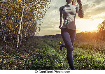 Runner in a forest
