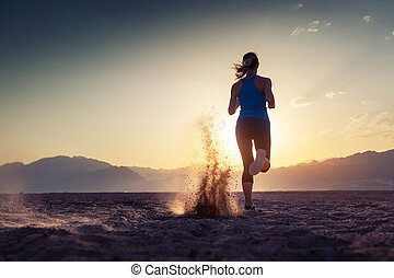 Runner in the desert