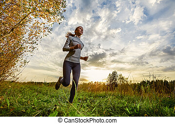 Runner in the forest