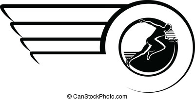 Runner in Winged Circle Design