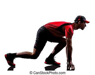 runner jogger silhouette