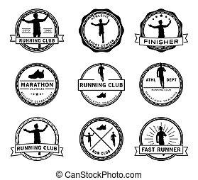 Runner label badge