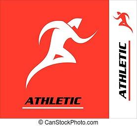Runner. Marathon. Athletic icon.