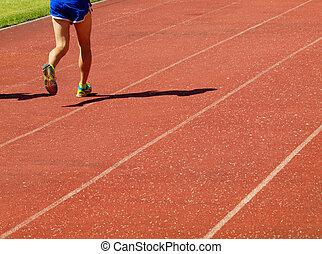 Runner on a treadmill