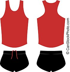 Creative design of runner shirt