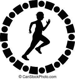 runner silhouete