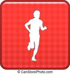 runner vector icon