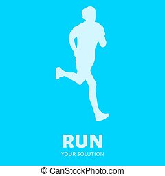 Runner vector logo.
