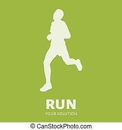 Runner vector logo. Brand's logo in the form of a runner