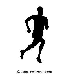 Runner, vector silhouette