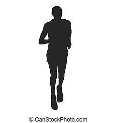 Runner. Vector silhouette