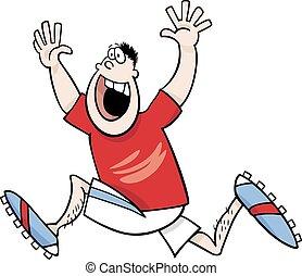 runner winner cartoon