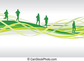 runners - running background
