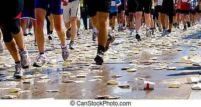 Runners Marathon - Marathon photograph taken near a water...