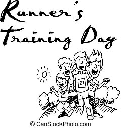 Runners Training Day - An image of a group of runners in a...