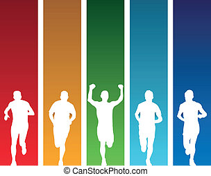 runners - colourful runners