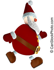 runnind 3D Santa Claus