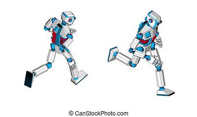 Running a fantastic humanoid robot